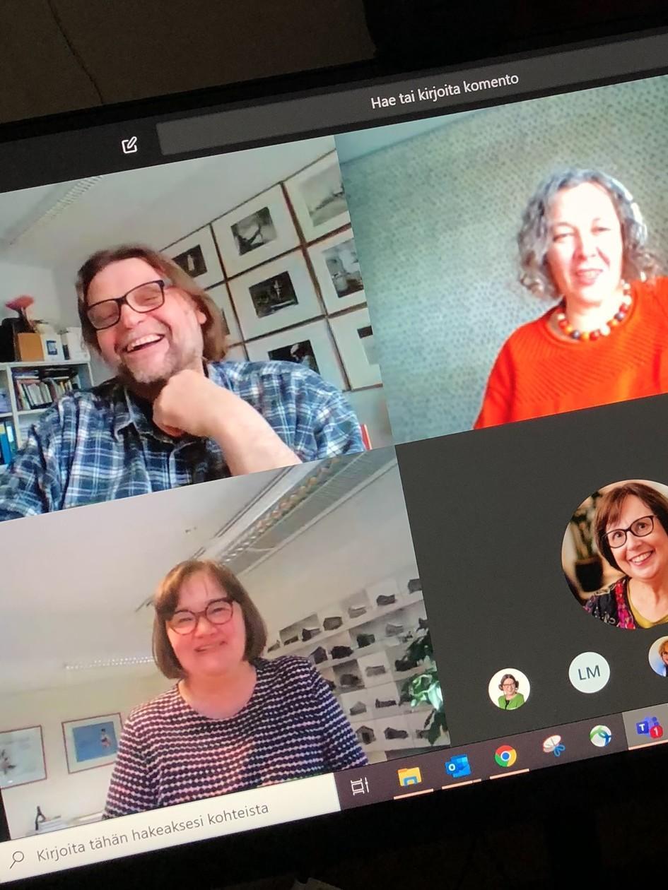 Näkymä Microsoft Teams -kokouksesta